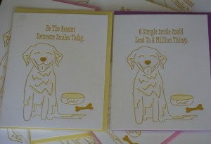 SHOP Golden Woofs Letterpress SMILE Dog Cards