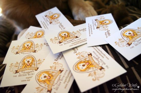 Golden Woofs Sugar The Golden Retriever Business Cards