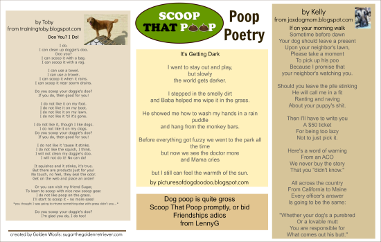 Scoop That Poop: Poop Poetry Entry #3