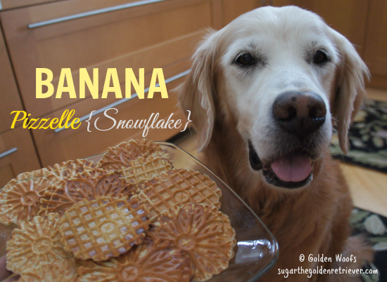Banana Pizzelle Dog Treats