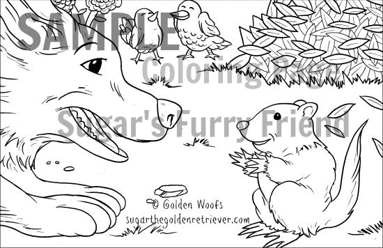 Black n White Illustration Sugar's Furry Friend