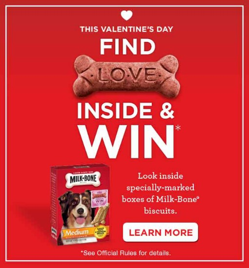 Milk Bone Valentine's Day Find LOVE