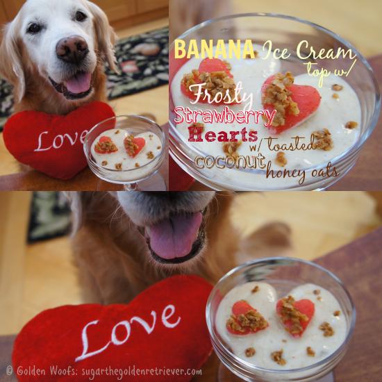 Banana Ice Cream w/ Strawberry Frosty Hearts Toasted Oats