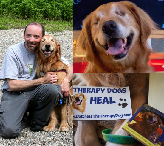 Dutchess Therapy Dog and Mark Condon