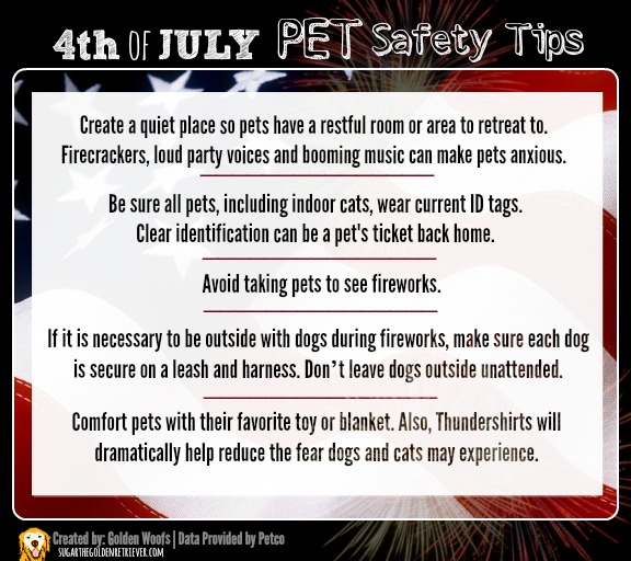 4th of JULY PET Safety Tips Infographic