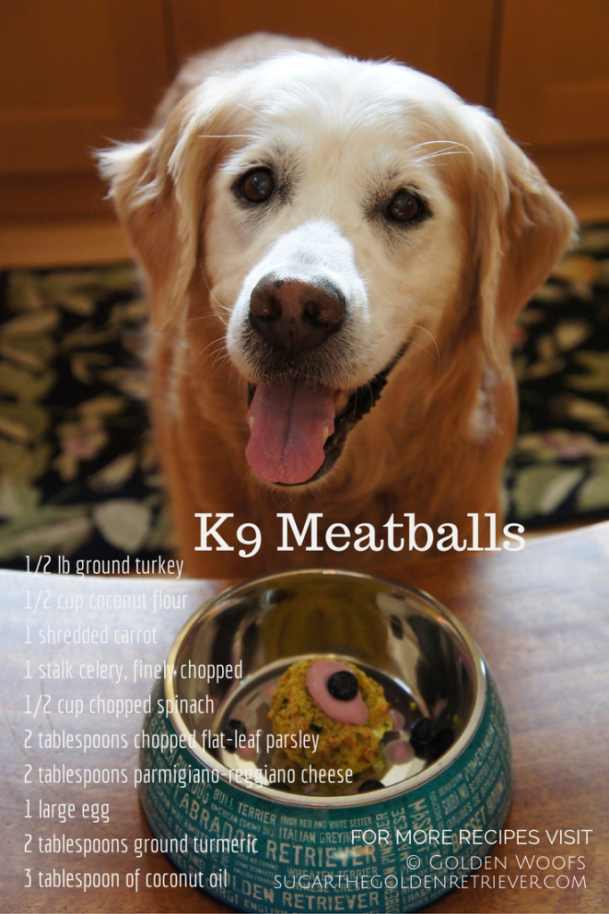 Delicious Homemade K9 Meatballs Golden Woofs