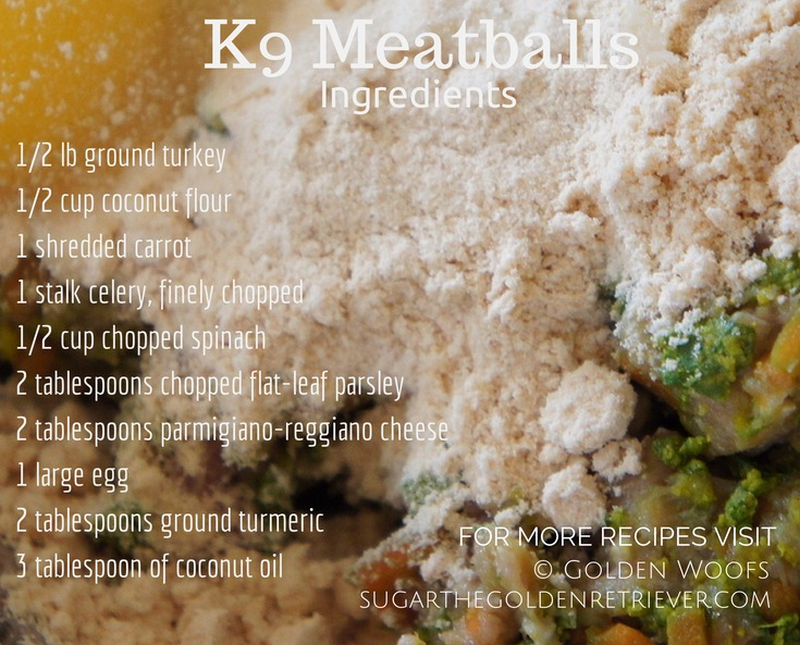 K9 Meatballs Ingredients