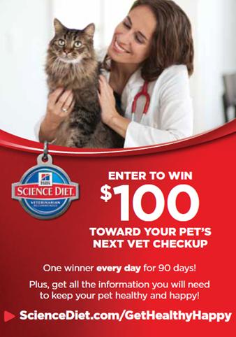 Hills Pet $100 Vet Visit Giveaway