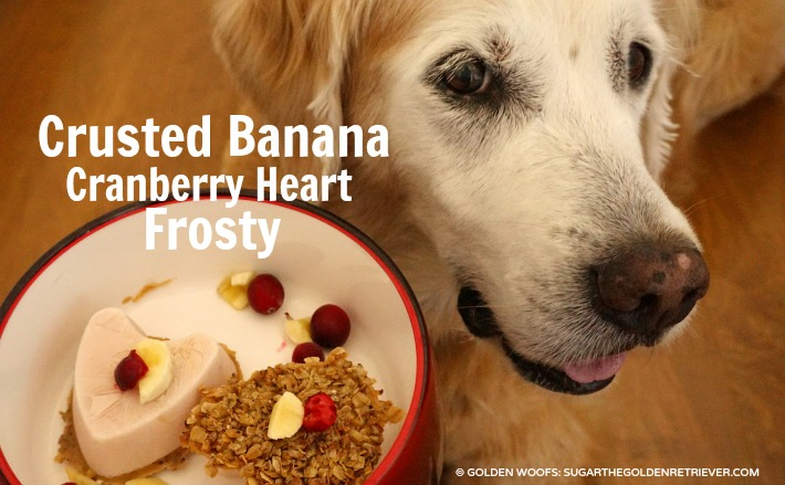Crusted Banana Cranberry Heart Frosty