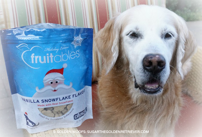 Fruitables Dog Treats with Real Snowflakes