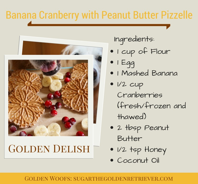 Recipe: Banana Cranberry with Peanut Butter Pizzelle Dog Treats