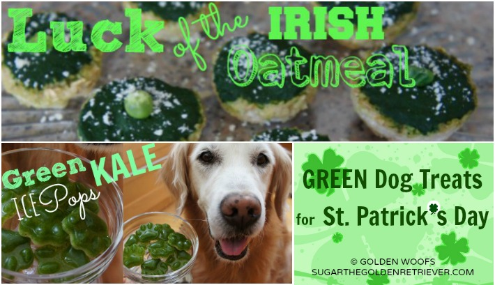 Green Dog Treats for St. Patrick's Day