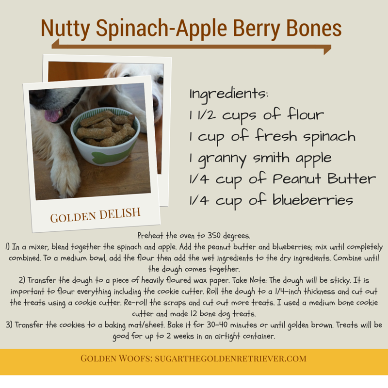 Spinach Apple Bones Dog Treat