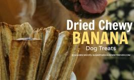 Dog Treats Dried Chewy BANANAS