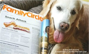Golden Woofs Dog Treat Recipe Featured In Family Circle Magazine