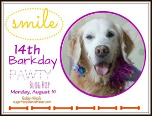 JOIN Sugar's 14th Barkday SMILE Pawty Blog Hop
