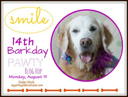 Sugar's 14th Barkday SMILE Pawty Blog Hop