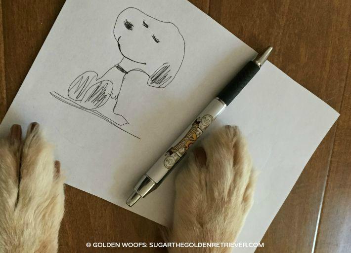 Snoopy Birthday Draw Snoopy