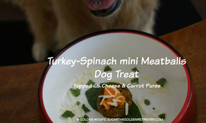 Turkey Dog Birthday Turkey-Spinach Meatballs Dog Treat
