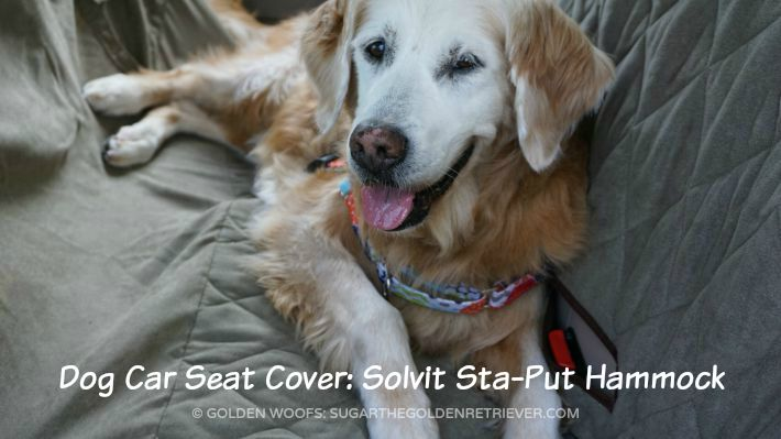 dog car seat cover solvit sta put hammock golden woofs. Black Bedroom Furniture Sets. Home Design Ideas
