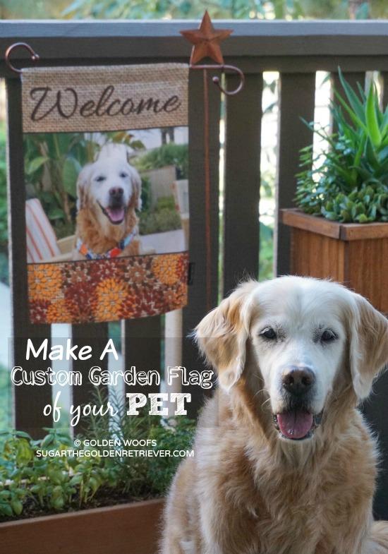 Make A Custom Garden Flag Of Your Pet At Flagology Golden Woofs
