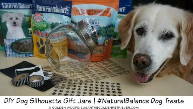 DIY Dog Silhouette Gift Jars | #NaturalBalance Dog Treats