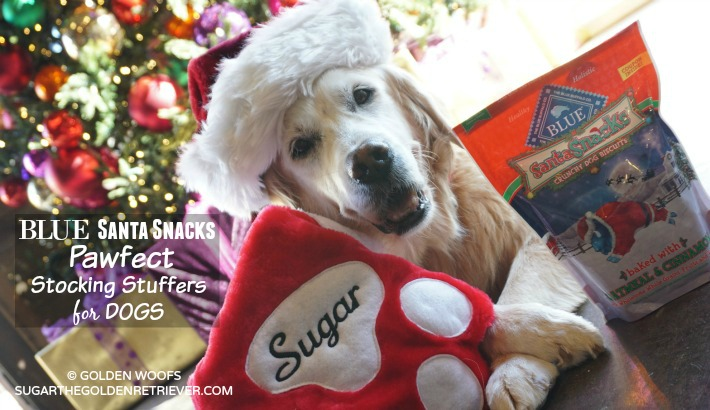 #BLUESantaSnacks Pawfect Stocking Stuffers For Dogs