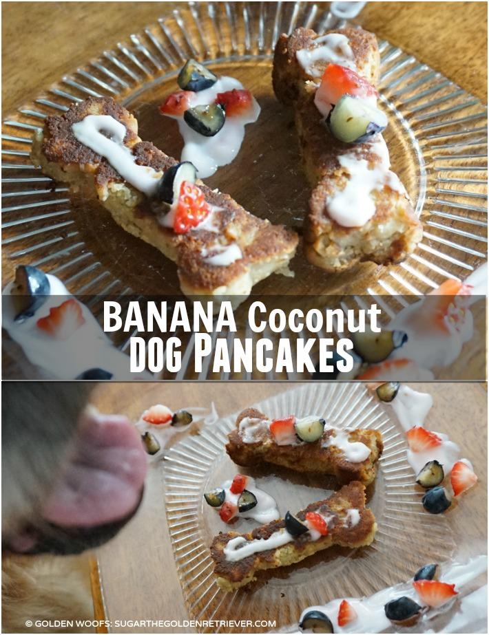 BANANA coconut dog pancakes