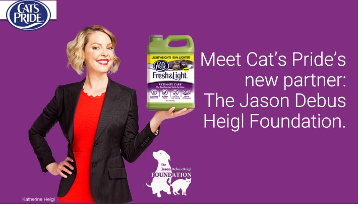 Cat's Pride Partners With Katherine Heigl to Promote Animal Welfare