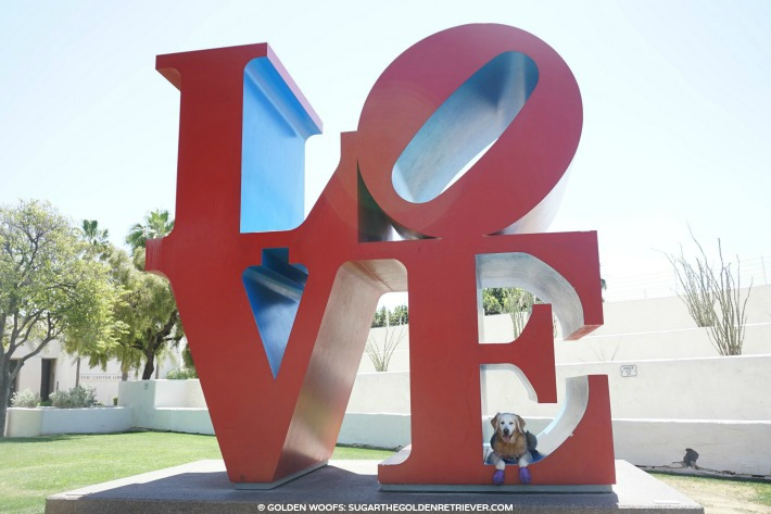 Public art the love sign