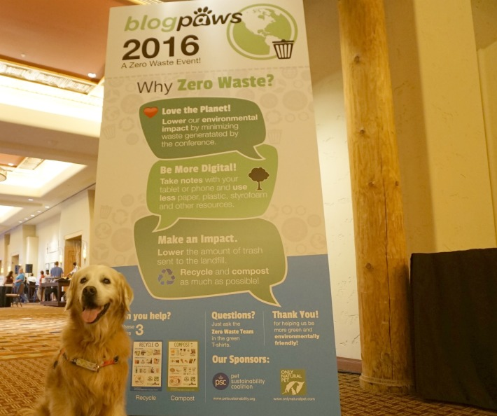 blogpaws conference zero waste