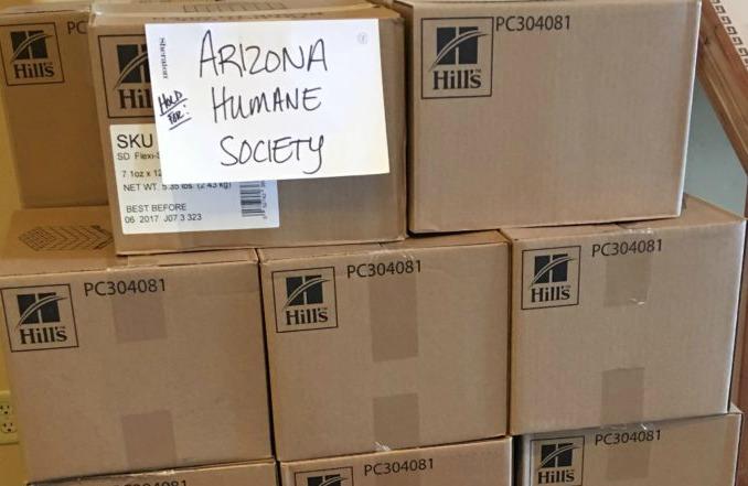 Hill's Pet go kit to Arizona Humane Society