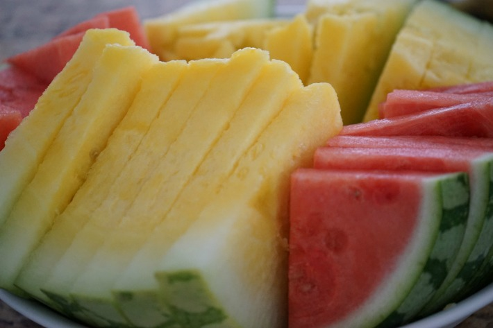 red yellow watermelon