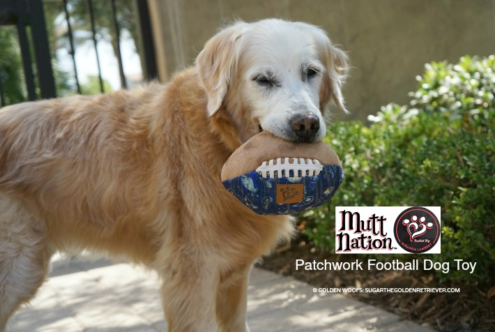 MuttNation Patchwork Football Dog Toy