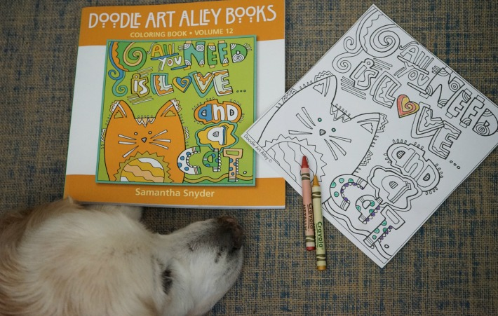 Doodle Art Alley Coloring Book All You Need is Love and A Cat