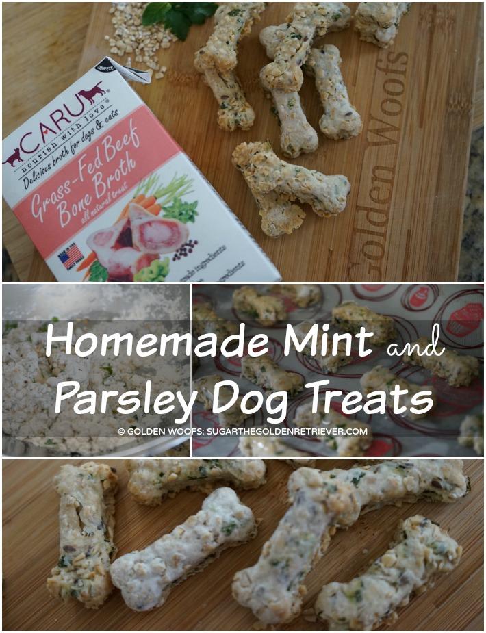 Mint and Parsley Dog Treats