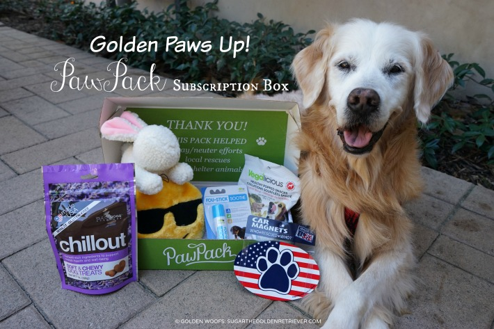 Golden Paws Up PawPack Subscription Box