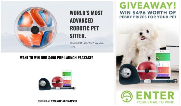 Pebby Robotic Pet Sitter Giveaway