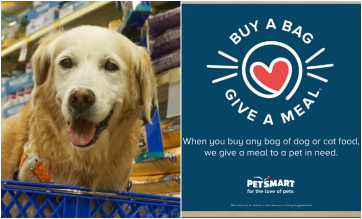 Help Pets In Need, Buy A Bag, Give a Meal™ at PetSmart #fortheloveofpets