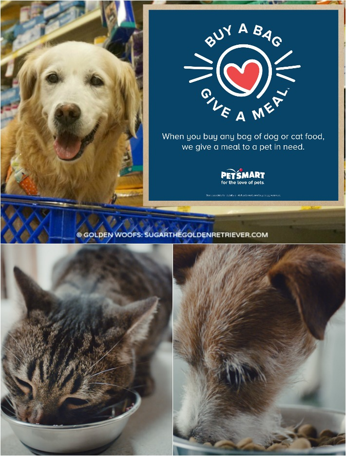 help pets in need, buy a bag give a meal at PetSmart