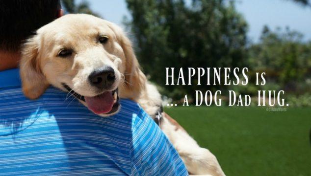 Happiness Is … A Dog Dad Hug