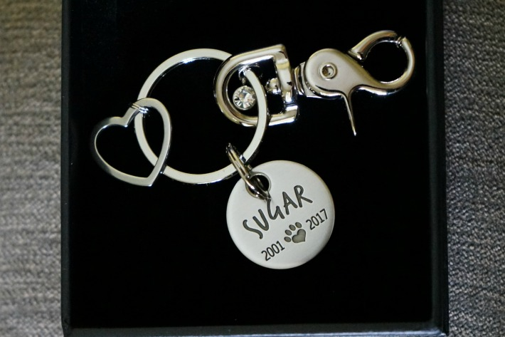 Maven Metals Pet Memorial keychain