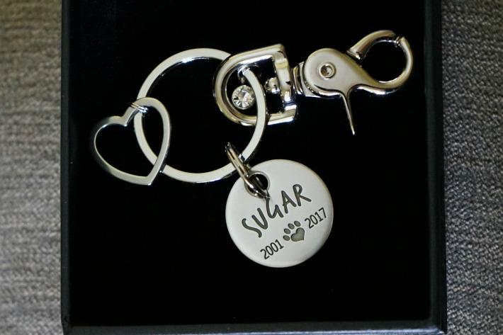 Maven Metals Pet Memorial keychain