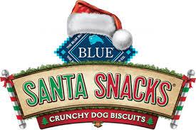 BLUE Santa Snacks logo