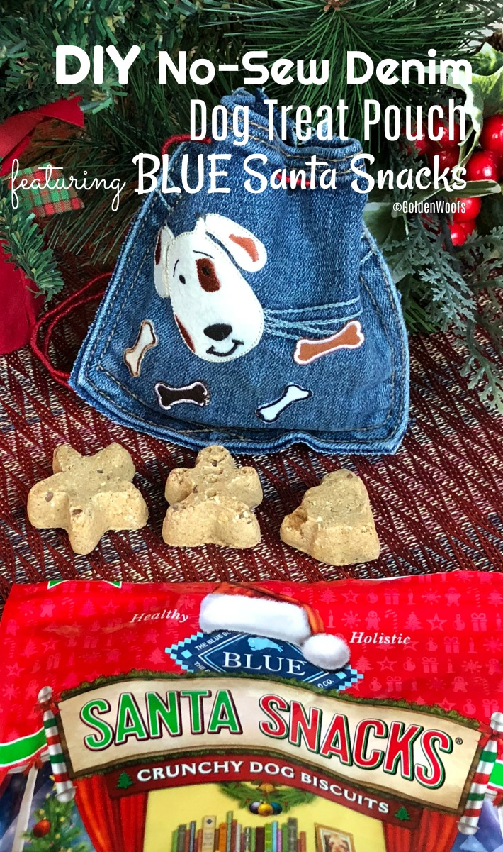 DIY Denim Dog Treat Pouch Blue Buffalo