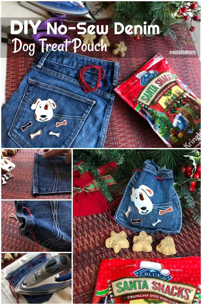 How to No-Sew Denim Dog Treat Pouch