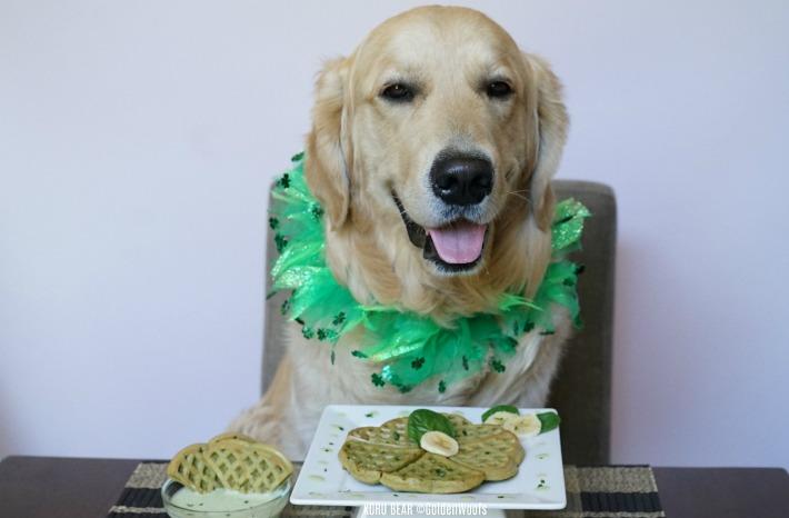 Dog-Friendly Spinach Banana Waffles