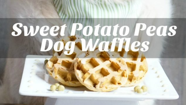 Sweet Potato Peas Dog Waffles