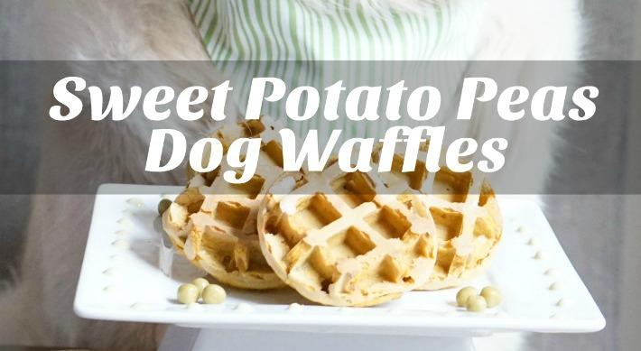 Sweet Potato Peas Dog Waffles