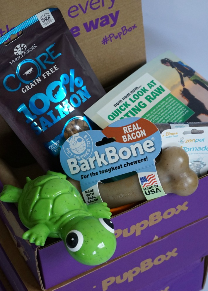 eating raw PupBox March Box